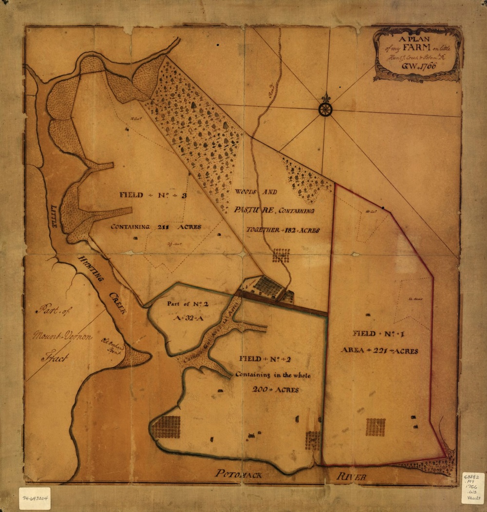 Maps made by George Washington, longtime surveyor and cartographer